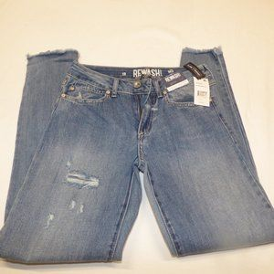 Rewash Vintage Reunion Frayed Hem Skinny Jeans